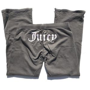 """Juicy Couture """"Juicy Butt"""" grey sweatpants Small"""